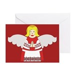 Ukrainian Angel Red Blouse Greeting Card UKR