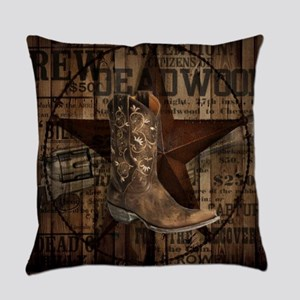 equestrian cowboy boots western  Everyday Pillow