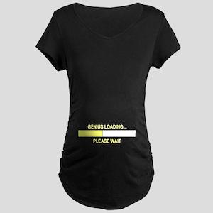 GENIUS LOADING... Maternity Dark T-Shirt