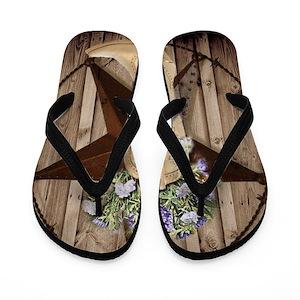 fa3ef92043205c Country Girl Flip Flops - CafePress