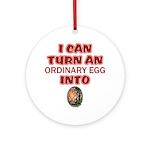 Ordinary Egg into Pysanka Ornament