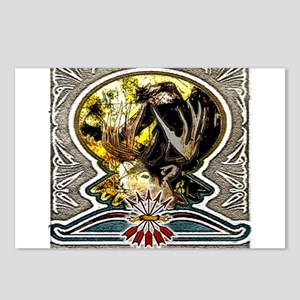 bow hunting art this bow hunt Postcards (Package o