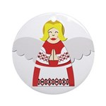Ukrainian Angel Red Blouse Ornament