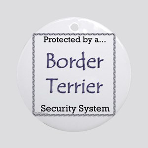 Border Terrier Security Ornament (Round)