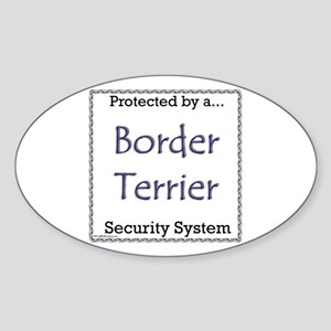 Border Terrier Security Oval Sticker