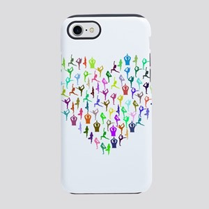 Rainbow Yogi Heart iPhone 8/7 Tough Case