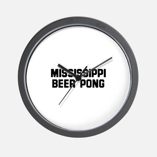 Mississippi Beer Pong Wall Clock