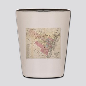 Vintage Map of Albany NY (1874) Shot Glass