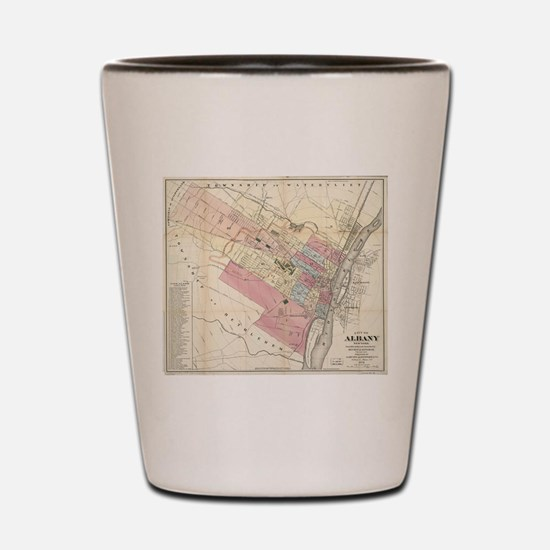 Vintage Map of Albany NY (1874) Shot Glass