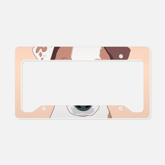 Jack Russell Terrier License Plate Holder