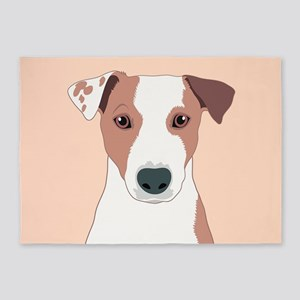 Jack Russell Terrier 5'x7'Area Rug