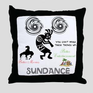 SUNDANCE. BETTER MOVIES, BETTER ENTER Throw Pillow