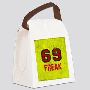 69 FREAK red black yellow vintage Canvas Lunch Bag