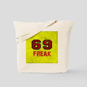 69 FREAK red black yellow vintage Tote Bag