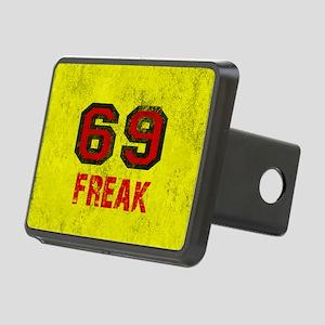 69 FREAK red black yellow  Rectangular Hitch Cover