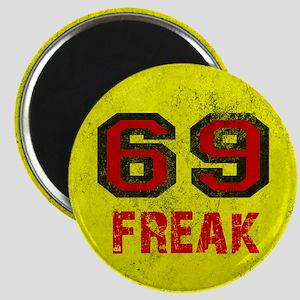 69 FREAK red black yellow vintage Magnet
