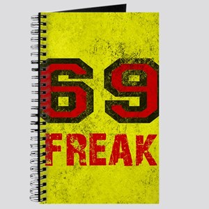69 FREAK red black yellow vintage Journal