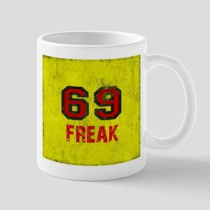 69 FREAK red black yellow vintage Mugs