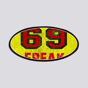 69 FREAK red black yellow vintage Patch