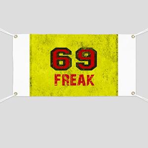 69 FREAK red black yellow vintage Banner