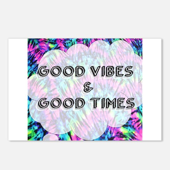 Good Vibes & Good Times Postcards (Package of 8)