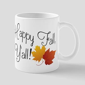 Happy Fall Y'all Cute Funny Thanksgiving Autu Mugs