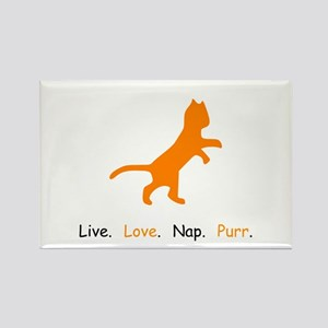 Cat Lovers Live Love Nap Purr Magnets