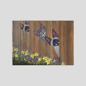 Three Little Kitties 5'x7'Area Rug