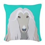 Afghan Hound Woven Throw Pillow