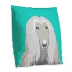 Afghan Hound Burlap Throw Pillow