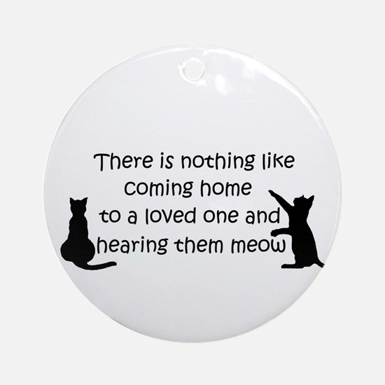 Coming Home to aCat Round Ornament