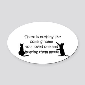 Coming Home to aCat Oval Car Magnet
