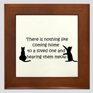 Coming Home to aCat Framed Tile