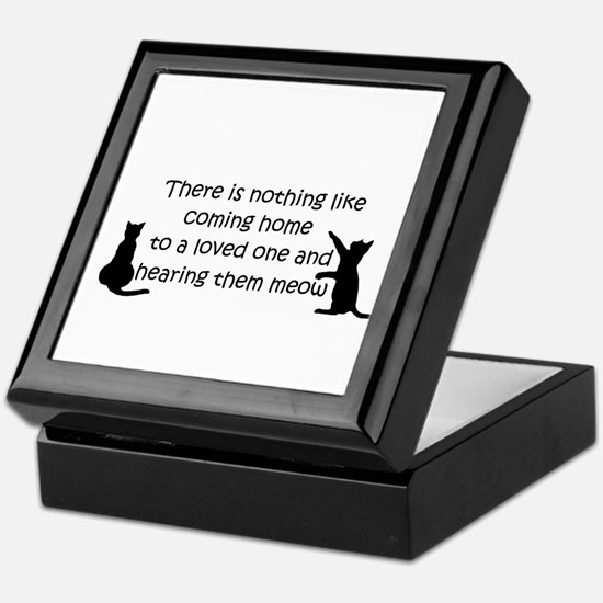 Coming Home to aCat Keepsake Box