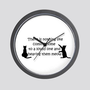 Coming Home to aCat Wall Clock