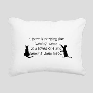 Coming Home to aCat Rectangular Canvas Pillow