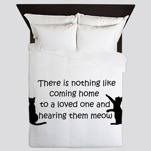 Coming Home to aCat Queen Duvet