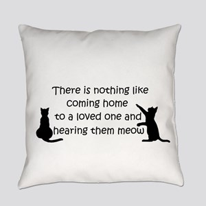 Coming Home to aCat Everyday Pillow