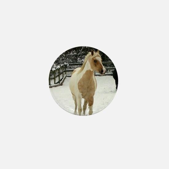 Unique Horse snow Mini Button
