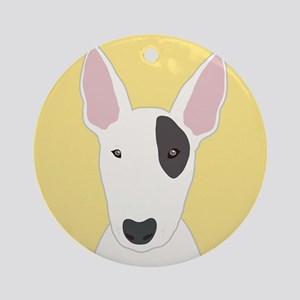 Bull Terrier Round Ornament
