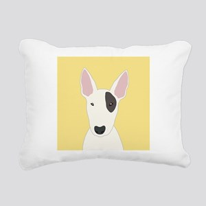 Bull Terrier Rectangular Canvas Pillow