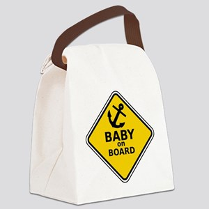 Anchor Baby on Board Canvas Lunch Bag