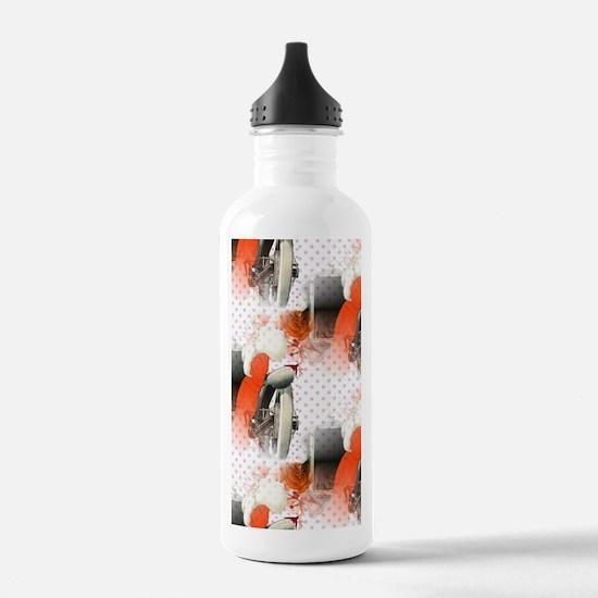polka dots flapper Water Bottle