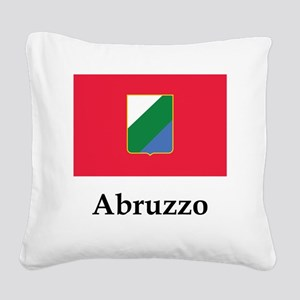 , Italy Flag Square Canvas Pillow