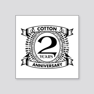 2nd cotton Wedding anniversary Sticker