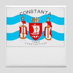 , Romania Flag Tile Coaster