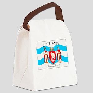 , Romania Flag Canvas Lunch Bag