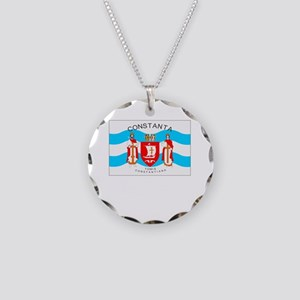 , Romania Flag Necklace Circle Charm