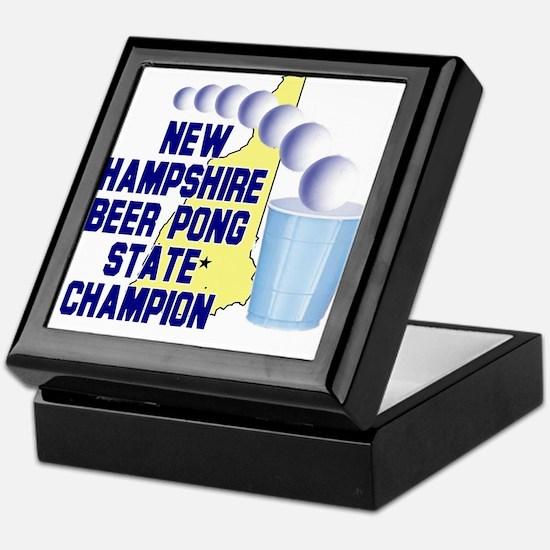 New Hampshire Beer pong State Keepsake Box
