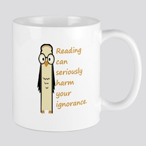 Cute Book Owl Reading Quote Mugs